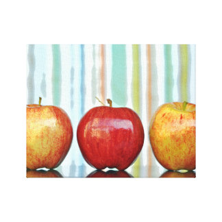 Gala Apples, Multi-colored Stripes Canvas Print