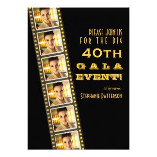 Gala de photo d'anniversaire de célébrité de premi cartons d'invitation personnalisés