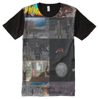 Galactic Blitz All-Over Printed Panel T-Shirt