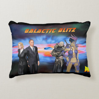 Galactic Blitz Brushed Polyester Accent Pillow
