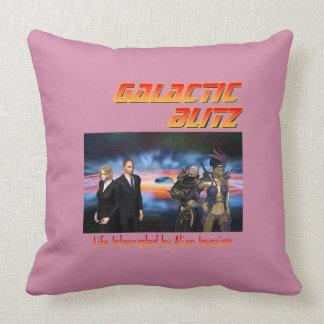 Galactic Blitz Throw Pillow