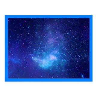 Galactic Center Blue Border Postcard
