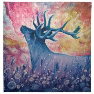 Galactic Elk Painting Cloth Napkin