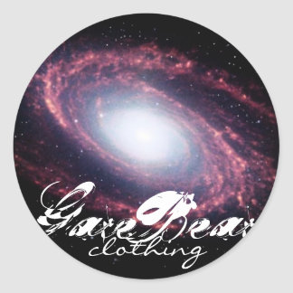 Galactic GareBear Clothing Classic Round Sticker