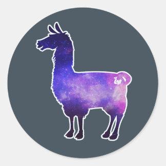 Galactic Llama Stickers