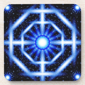Galactic Octagon Mandala Beverage Coaster