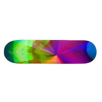 Galactic Prisms Custom Skate Board