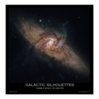 Galactic Silhouettes - Posters From Space