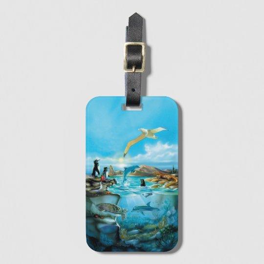 Galapagos Animals Luggage Tag