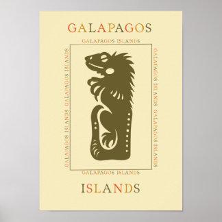 Galapagos Iguana Poster