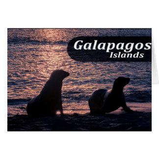 Galapagos Island Poster Card