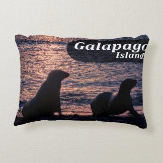 Galapagos Island Poster Decorative Pillow