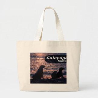 Galapagos Island Poster Large Tote Bag