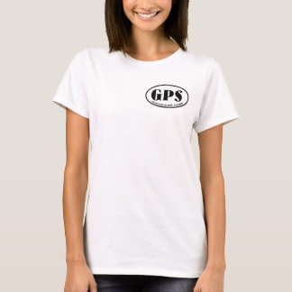 Galapagos Islands map with GPS airport code T-Shirt
