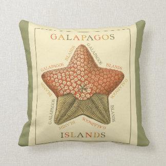 Galapagos Islands starfish Throw Pillow
