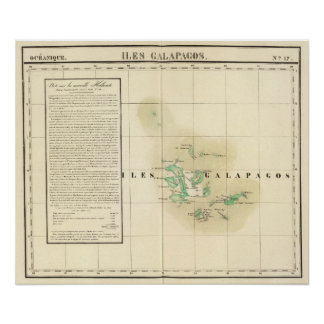Galapagos Oceania no 17 Poster