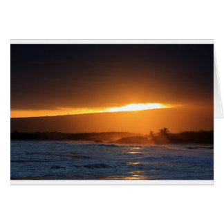 Galapagos paradise island sunset beach card