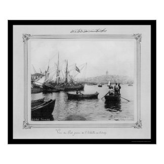 Galata From Sirkeci Port in Istanbul, Turkey 1885 Poster