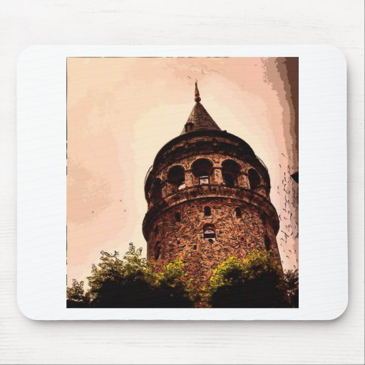 Galata Tower In Istanbul Hand drawing Mousepad