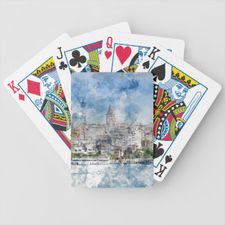 Galata Tower in Istanbul Turkey Bicycle Playing Cards