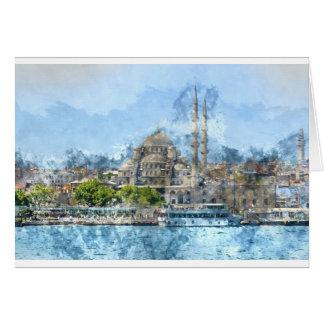 Galata Tower in Istanbul Turkey Card