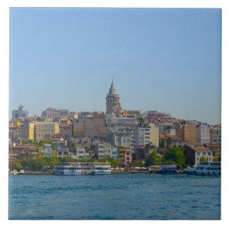 Galata Tower in Istanbul Turkey Ceramic Tile