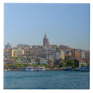 Galata Tower in Istanbul Turkey Tile