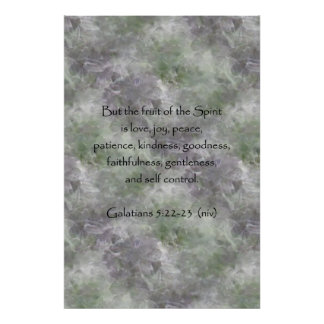 Galatians 5:22-23 ~ Fruit of the Spirit Poster