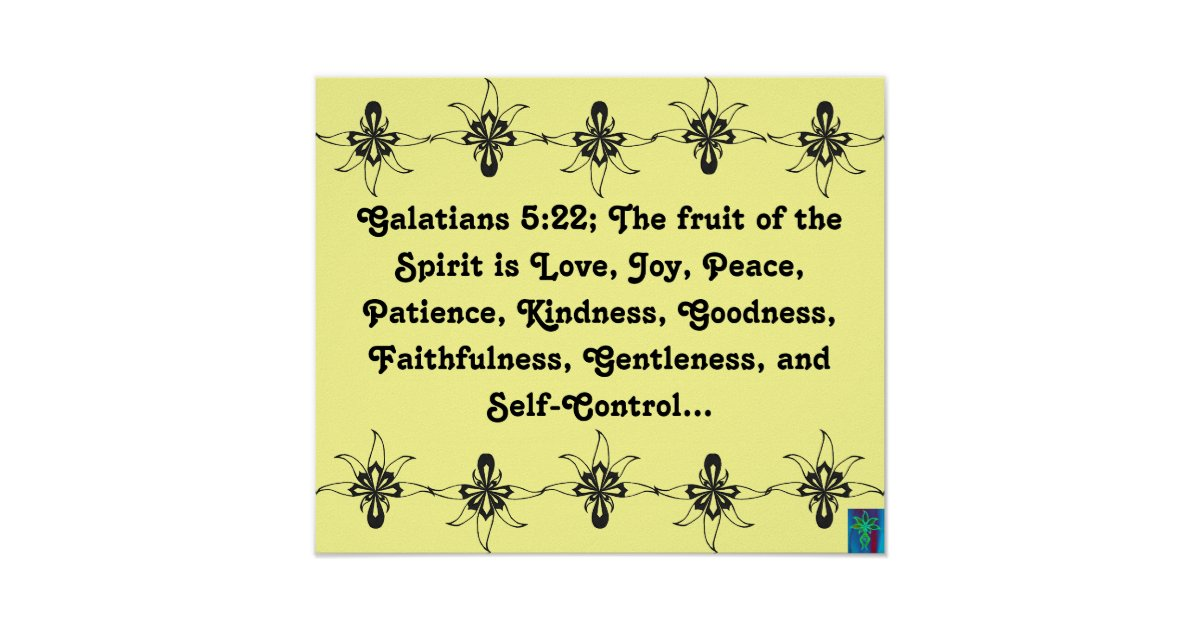 Galatians 5:22 Fruit of the Spirit Poster | Zazzle.ca