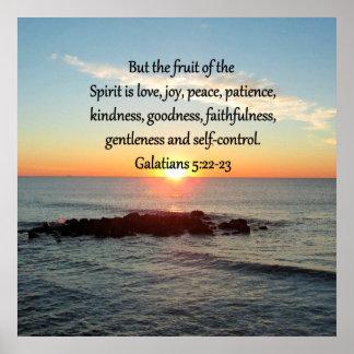 GALATIANS 5 FRUITS OF THE SPIRIT POSTER