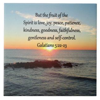 GALATIANS 5 FRUITS OF THE SPIRIT TILE