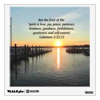 GALATIANS 5 SUNSET PHOTO WALL STICKER