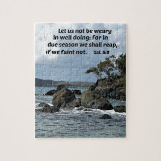 Galations 6:9 Let us not be weary in well doing Jigsaw Puzzle
