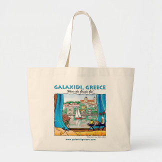 Galaxidi Summer Jumbo Tote Bag