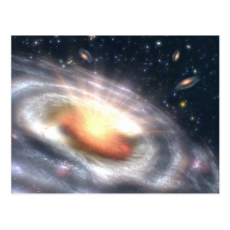 Galaxies in the sky postcard