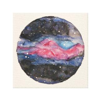Galaxis Original Watercolor Canvas Print