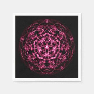 Galaxy abstract mandala. paper napkin
