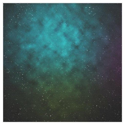 Galaxy And Space Pattern Fabric
