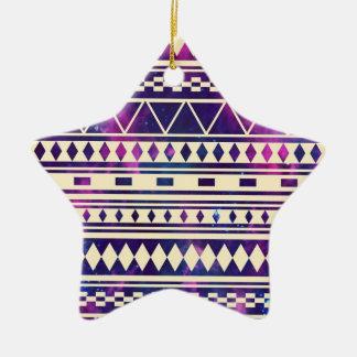 Galaxy andes aztec ceramic star ornament