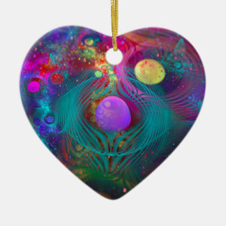 Galaxy Art Ceramic Ornament