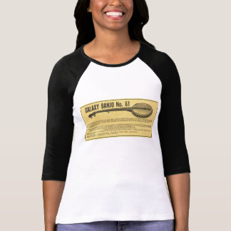Galaxy Banjo Ladies 3/4 Sleeve Raglan T-Shirt
