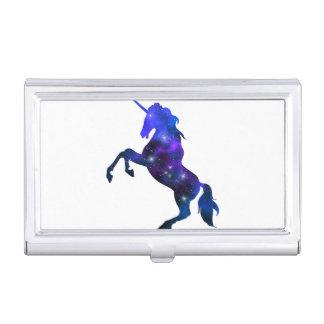 Galaxy  blue beautiful unicorn sparkly image business card holder