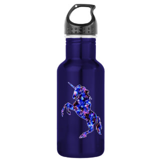 Galaxy blue beautiful unicorn starry sky image