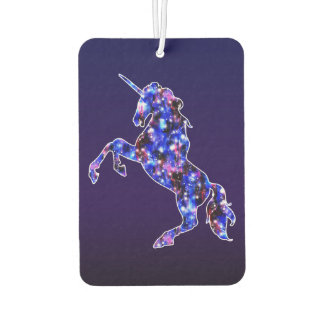Galaxy blue beautiful unicorn starry sky image air freshener