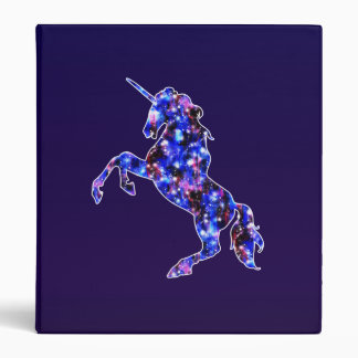 Galaxy blue beautiful unicorn starry sky image binder