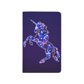 Galaxy blue beautiful unicorn starry sky image journal
