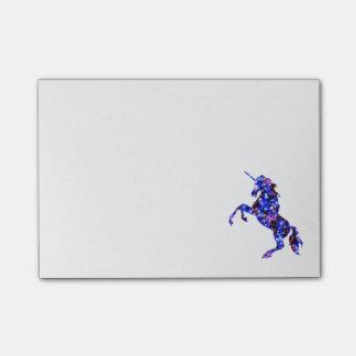 Galaxy blue beautiful unicorn starry sky image post-it® notes