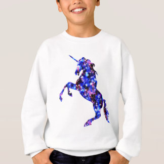 Galaxy blue beautiful unicorn starry sky image sweatshirt