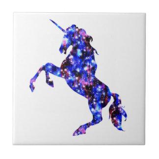 Galaxy blue beautiful unicorn starry sky image tile