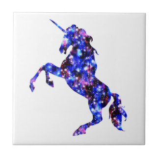 Galaxy blue beautiful unicorn starry sky image tiles